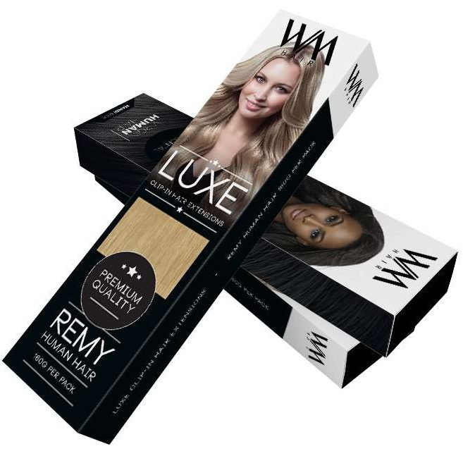 Packaging Box Design for Hair Extensions