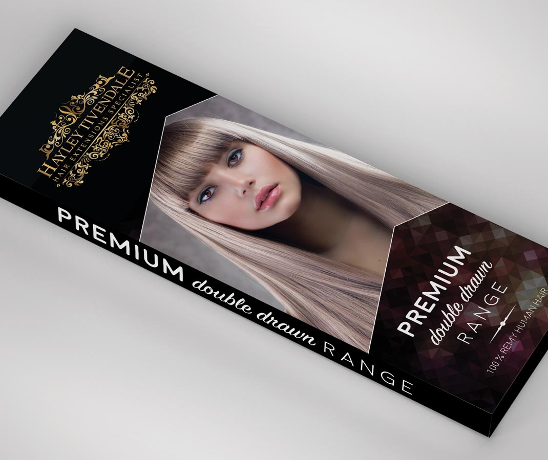 Packaging For Hayley Tivendale Hair Extensions Massxo