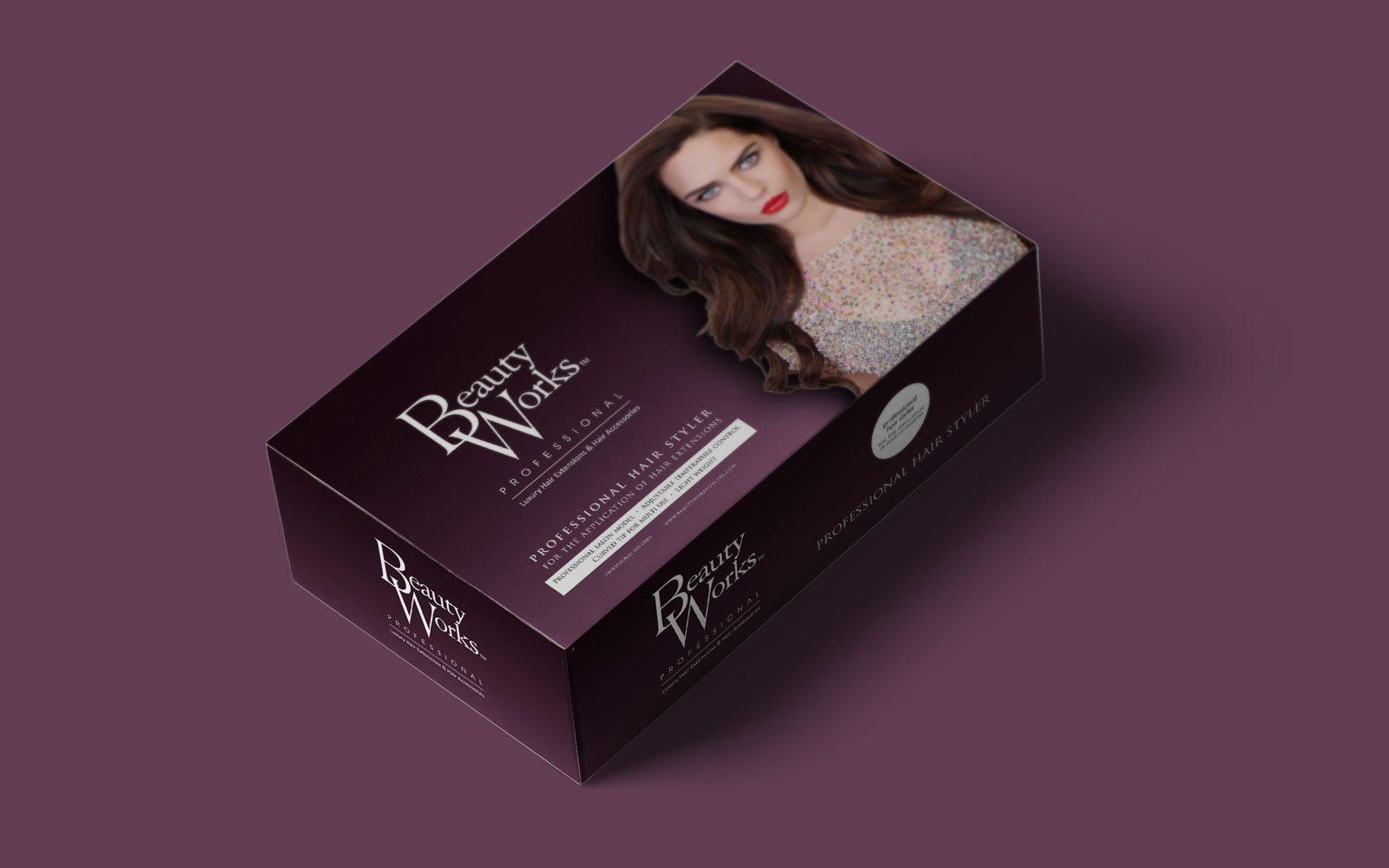 packaging design for hair straighteners