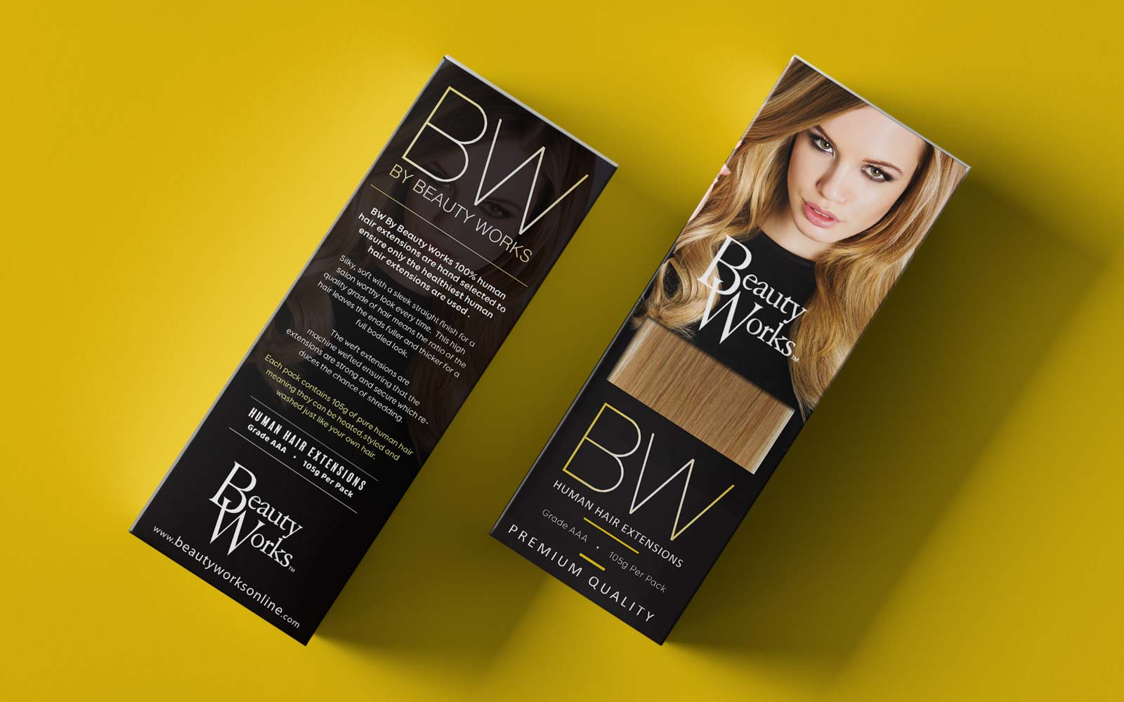 beauty works BW Packaging design