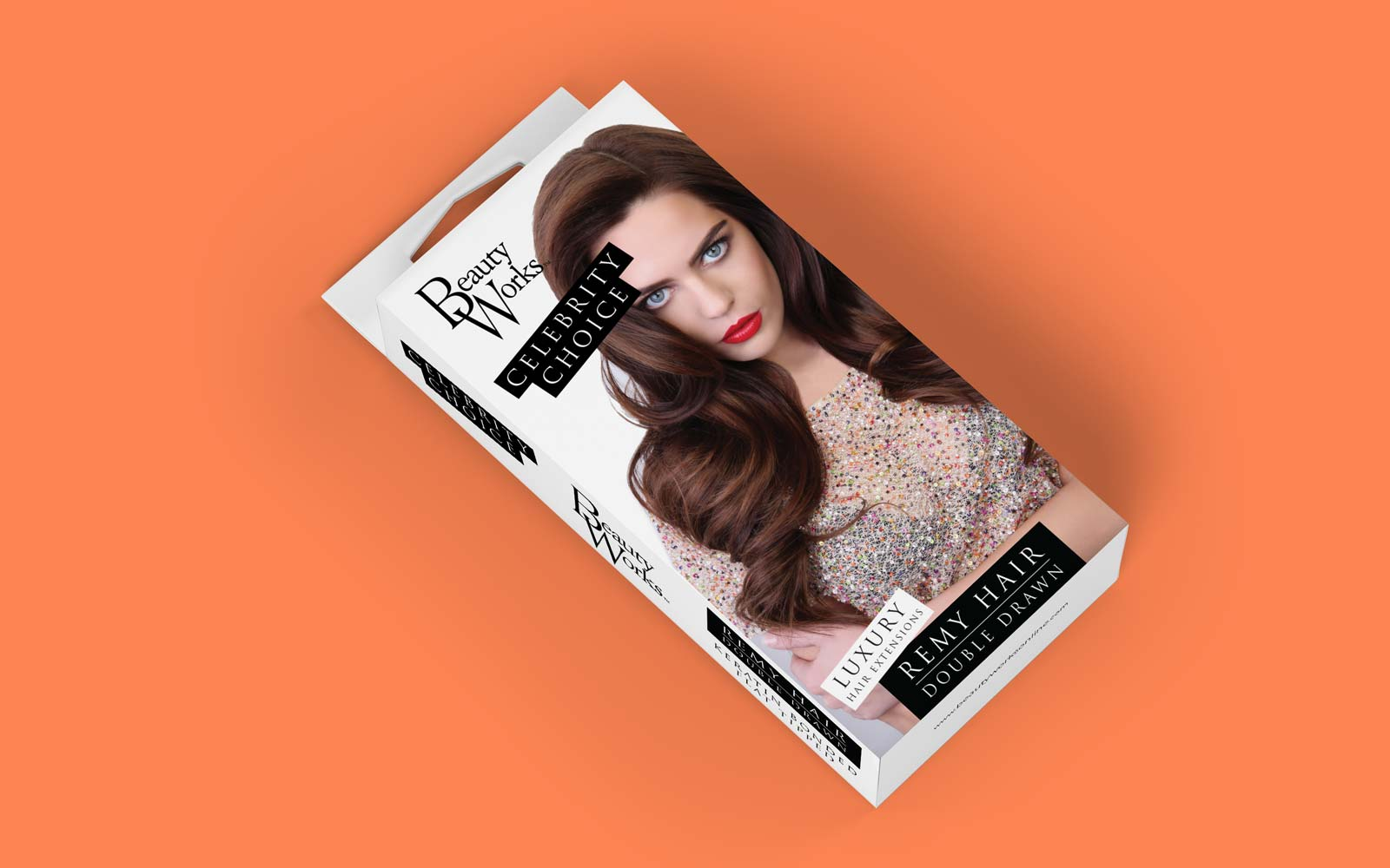 celebrity choice hair extensions packaging