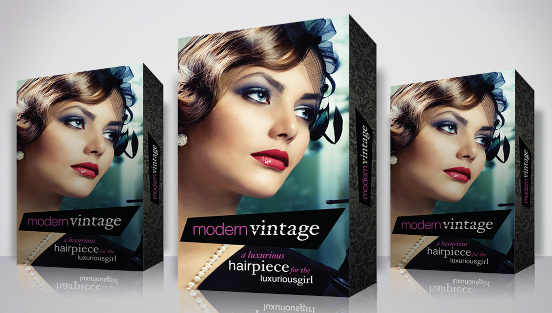 modern-vintage-hair-piece-packaging-box-design