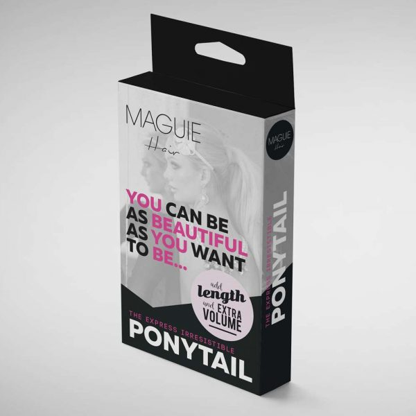 wraparound-ponytail-hair-extensions-box-package-design-maguie