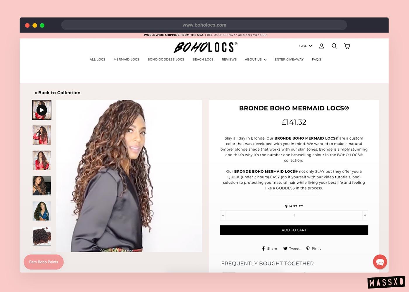 boholocs website design
