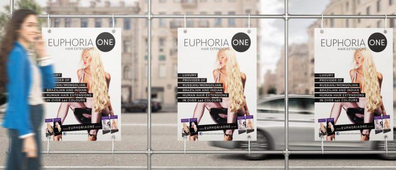 poster design marketing for hair extensions uk London